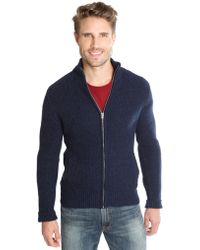 Lucky Brand - Waffle Knit Zip Jacket - Lyst