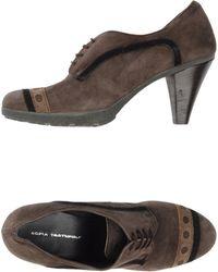 Sofia Tartufoli Brown Lace-up Shoes - Lyst