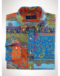 Polo Ralph Lauren Printed Cotton Poplin Shirt - Lyst