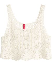 H&M Crocheted Top - Lyst