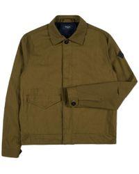 Paul Smith | Men's Khaki Cotton-twill Trucker Jacket | Lyst