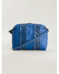 Bottega Veneta Medium Intrecciato Messenger Bag - Lyst