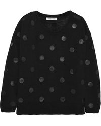 Elizabeth And James Polka-dot Cotton-blend Sweater - Lyst