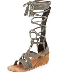 Free People - Saltarello Mini Wedge Gladiator Sandals - Lyst