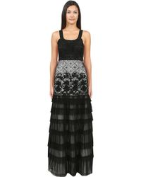 Sue Wong Crystal Pleated Ball Gown - Lyst