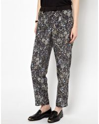 Emma Cook - Silk Mix Trousers - Lyst
