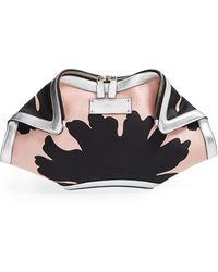 Alexander McQueen Women'S 'De Manta - Large' Silk Clutch - Pink - Lyst