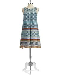 Muse - Tribal Patterned Shift Dress - Lyst