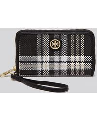 Tory Burch Wristlet - Robinson Plaid Iphone 5/5S - Lyst