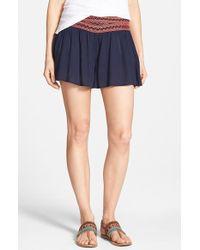 Blu Pepper - Crochet Waist Shorts - Lyst