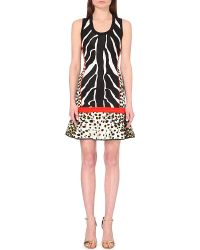 Roberto Cavalli Animal-Print Stretch-Knit Dress - For Women - Lyst