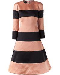 Rochas Pink Striped Dress - Lyst
