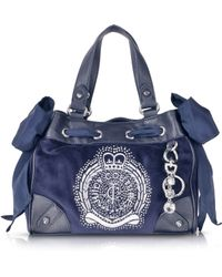Juicy Couture Iconic Crest Velour Mini Daydreamer Handbag - Lyst