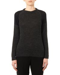 IRO Piper Contrast-Shoulder Sweater - Lyst