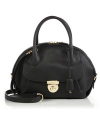 Ferragamo | Fiamma Medium Pebbled Leather Satchel | Lyst