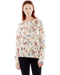 Equipment Cashmere Sloane Floral-Print Sweater - Lyst