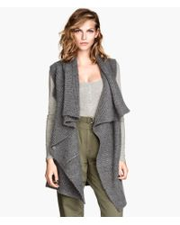 H&M Knitted Waistcoat - Lyst