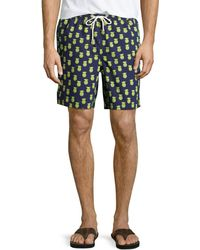 Neiman Marcus - Fancy Pineapple-print Swim Trunks - Lyst