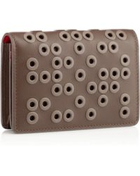 Christian Louboutin Brown Milos Wallet - Lyst