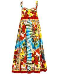 Dolce & Gabbana Multi-print Cotton Dress - Lyst