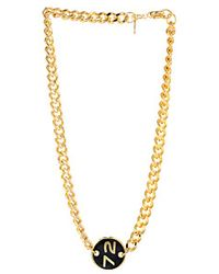 Marc By Marc Jacobs Gold Chunky Necklace - Lyst