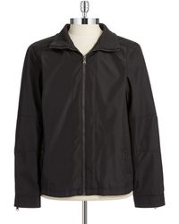 Calvin Klein Black Water-Repellent Jacket - Lyst