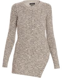 Isabel Marant Elea Knitted Top beige - Lyst