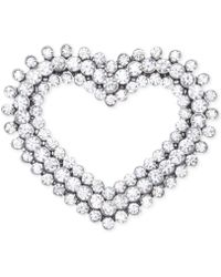 Jones New York Silver-Tone Open Heart Pin - Lyst