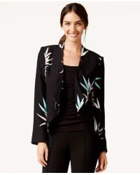 Vince Camuto - Floral-print Open-front Jacket - Lyst