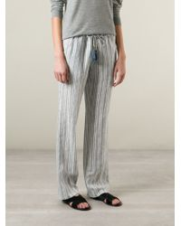 Tory Burch Stripes Trousers - Lyst