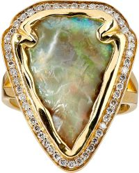 Pamela Love Arrowhead Ring gold - Lyst