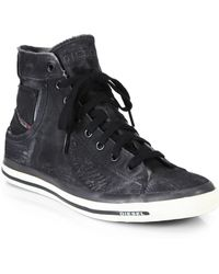 Diesel Exposure Hightop Sneakers - Lyst