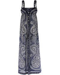 Coast Gray Long Dress - Lyst