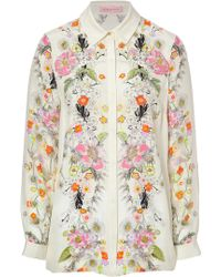 Matthew Williamson Silk Floral Print Shirt - Lyst