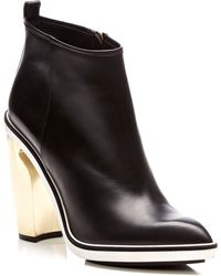 Nicholas Kirkwood Metallicheel Leather Ankle Boots - Lyst