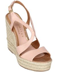 Palomitas By Paloma Barcelo' 110mm Leather Wedges - Lyst