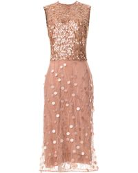 Rodarte Beaded Paillette Sleeveless Dress - Lyst