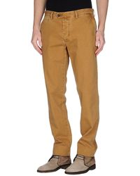 New England Denim Pants beige - Lyst