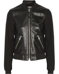 Mackage Jennifer Paneled Leather and Cotton Biker Jacket - Lyst