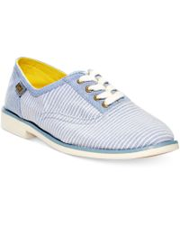 Keds Boyfriend Chambray Oxfords - Lyst