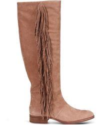 Sam Edelman | Fringed Knee-High Boots | Lyst