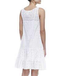 Catherine Malandrino Mixedlace Dropwaist Sleeveless Dress - Lyst