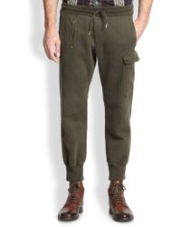 Diesel Green Cargo Sweatpants - Lyst