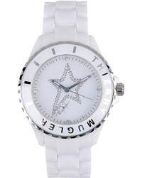 Thierry Mugler Wrist Watch white - Lyst