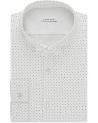 Calvin Klein X Extra Slim-Fit Stretch Licorice Dot Dress Shirt white - Lyst
