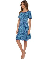 Catherine Catherine Malandrino Blue Valeria Dress - Lyst
