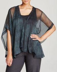 Eileen Fisher Plus Drape Front Kimono Jacket - Lyst