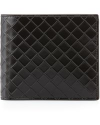 Bottega Veneta Sculpito Leather Wallet - Lyst