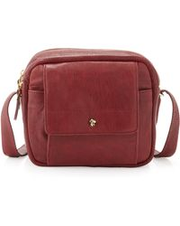 Etienne Aigner - The Daily Xbody Burnished Full Grain Leather Crossbody Bag - Lyst
