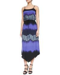 Halston Heritage Sleeveless Printed Maxi Dress multicolor - Lyst
